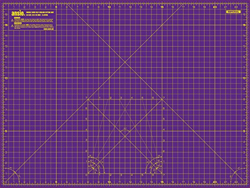 Ansio A1 90cm X 60cm Double Sided Cutting Mat Purple